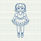 Маленькая балерина в красивом платье Стоковое Фото