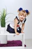Маленькая белокурая девушка Стоковые Фото