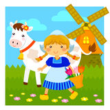 Маленькая голландская девушка иллюстрация вектора