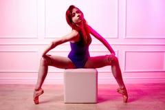 Маленькая девочка, балерина, Стоковые Фото