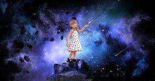 Маленькая девочка, большие мечты Стоковые Фотографии RF