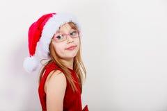 Маленькая девочка выглядеть как эльф santa Стоковая Фотография RF