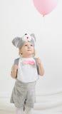 Маленькая девочка в костюме мыши Стоковое Изображение RF