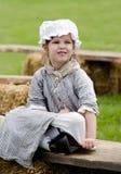 Маленькая девочка в костюме Стоковые Изображения RF