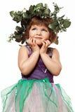 Маленькая девочка в красивом платье Стоковое Изображение