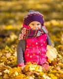 Маленькая девочка в парке Стоковые Фотографии RF