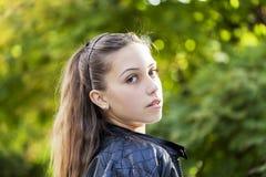 Маленькая девочка в природе Стоковая Фотография