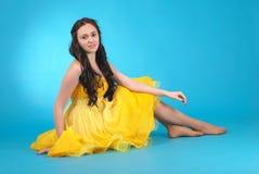 Маленькая девочка в платье бального зала Стоковые Изображения