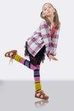 Маленькая девочка в стиле битника, с ponytails Стоковая Фотография RF