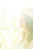 Маленькая девочка в шлеме Стоковые Фотографии RF