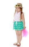 Маленькая девочка в шляпе стоковые изображения