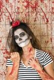 Маленькая девочка готовая для того чтобы отпраздновать хеллоуин Стоковые Фотографии RF