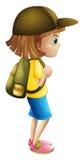 Маленькая девочка готовая для hiking Стоковые Изображения