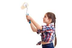 Маленькая девочка держа белый крен Стоковое Изображение RF