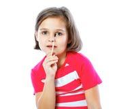 Маленькая девочка держа щетку для красить, художник, Стоковая Фотография