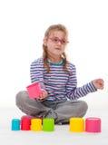Маленькая девочка игра Стоковое Изображение RF
