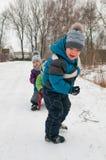 Маленькая девочка и мальчики Стоковая Фотография RF
