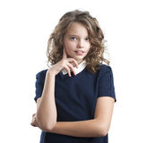 Маленькая девочка кокетки милая Стоковые Фотографии RF