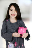Девушка с банком стоковые изображения