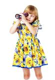 Маленькая девочка к школе стоковое фото