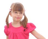 Маленькая девочка на белой предпосылке Стоковое фото RF