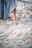 Маленькая девочка на пляже Стоковая Фотография RF