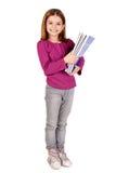 Маленькая девочка на школе стоковая фотография