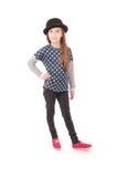 Маленькая девочка портрета усмехаясь Стоковое Изображение