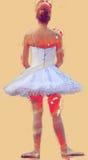 Маленькая девочка практикуя классический танец Стоковая Фотография