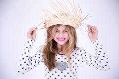 Маленькая девочка страны счастливая Стоковое Изображение RF