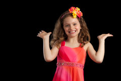 Маленькая девочка с ладонями вверх Стоковая Фотография