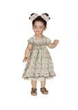 Маленькая девочка с белыми смычками Стоковое фото RF