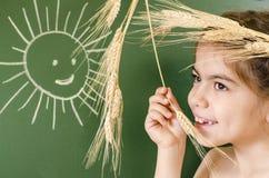 Маленькая девочка с кроной ушей стоковое изображение