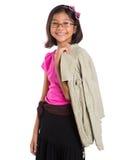 Маленькая девочка с курткой II стоковое изображение rf
