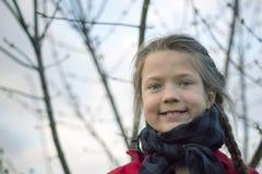Маленькая девочка с сердцами Стоковые Фото