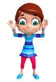Маленькая девочка с смешным представлением Стоковое фото RF