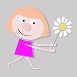 Маленькая девочка с стоцветом Стоковое Фото