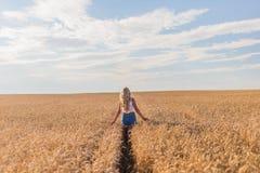 Маленькая девочка усмехается в поле Стоковая Фотография RF