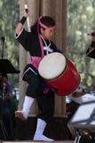 Маленькая девушка барабанщика Стоковые Изображения