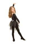 Маленькая девушка балерины стоковое изображение rf