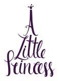 Маленькая карточка дизайна литерности принцессы Стоковая Фотография RF