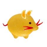 Маленькая мышь, сделанная из лимона и перца. Стоковое Фото