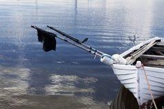 Маленькая лодка в гавани Стоковое фото RF
