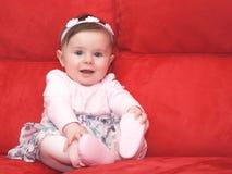 Маленькая принцесса на кресле Стоковая Фотография