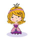 Маленькая принцесса иллюстрация штока