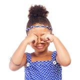 Маленькая плача девушка Стоковые Фото