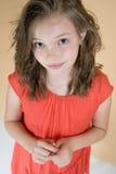 Маленькая скромная девушка (8 лет) Стоковые Фотографии RF