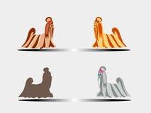 Маленькая собачка. Small, decorative doggie. Horizontal  illustration Stock Image