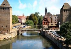 Маленькая страсбург Франция Франции, Эльзас Стоковая Фотография