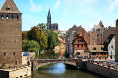 Маленькая страсбург Франция Франции, Эльзас Стоковые Изображения RF